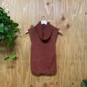 White House Black Market Rust Knit Sweater